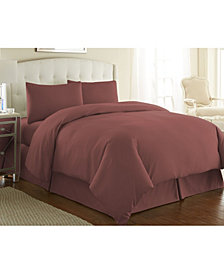 Southshore Fine Linens Ultra-Soft Solid Color 3-Piece Duvet Cover Set