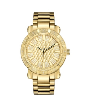 """Men's """"562"""" Diamond (1/8 ct.t.w.) 18k Gold Plated Stainless Steel Watch"""