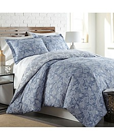 Boho Paisley 3-Piece Duvet Cover and Sham Set