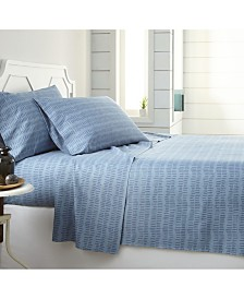 Southshore Fine Linens Blue Confetti Reversible Printed Duvet Cover and Sham Set, King