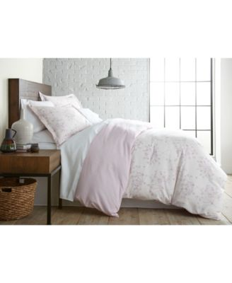 Soft Floral Printed Reversible Duvet Cover and Sham Set, Twin/Twin XL