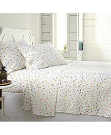 Southshore Fine Linens Colorful Confetti 4 Piece Sheet Set, King