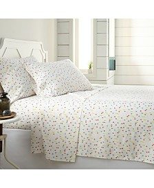 Southshore Fine Linens Colorful Confetti 4 Piece Sheet Set, King