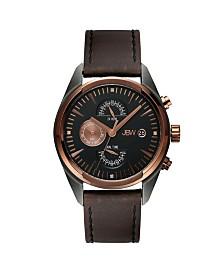 JBW Men's Woodall Diamond (1/20 ct.t.w.) Gun Metal-Plated Stainless Steel Watch