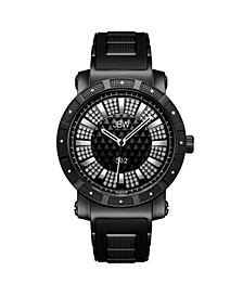 """Men's """"562"""" Diamond (1/8 ct.t.w.) Black Ion-Plated Stainless Steel Watch"""