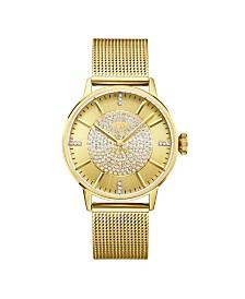 JBW Women's Belle Diamond (1/8 ct.t.w.) 18k Gold Plated Stainless Steel Watch