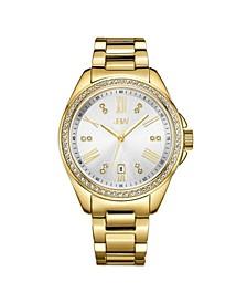 Women's Capri Diamond (1/8 ct.t.w.) 18k Gold Plated Stainless Steel Watch