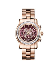 Women's Laurel Diamond (1/10 ct.t.w.) 18K Rose Gold Plated Stainless Steel Watch