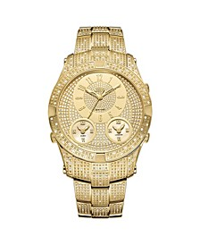 Men's Jet Setter III Diamond (1 ct.t.w.) 18k Gold Plated Stainless Steel Watch