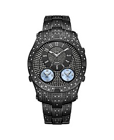 Men's Jet Setter III Diamond (1 ct.t.w.) Black Ion-Plated Stainless Steel Watch