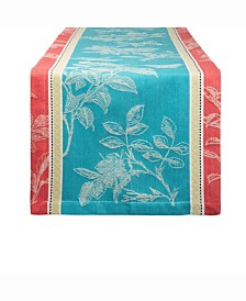 "Botanical Garden Jacquard Table Runner 14"" X 72"""