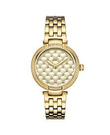 JBW Women's Gala Diamond (1/5 ct.t.w.) 18k Gold Plated Stainless Steel Watch
