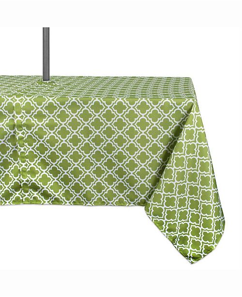 """Design Import Outdoor Table cloth with Zipper 60"""" X 120"""""""