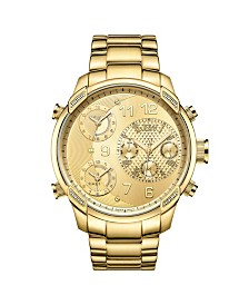 JBW Men's G4 Diamond (1/6 ct.t.w.) 18k Gold Plated Stainless Steel Watch