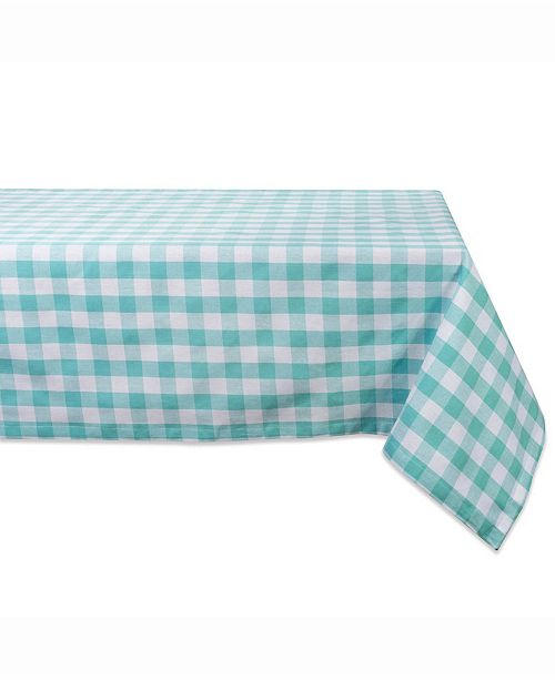 "Design Import Checkers Table cloth 60"" X 104"""