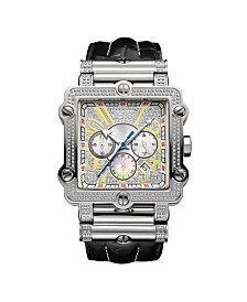 JBW Men's Phantom Diamond (1 ct.t.w.) Stainless Steel Watch