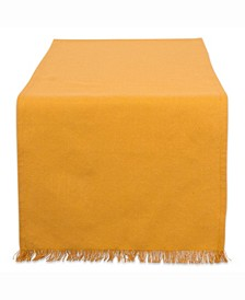 """Solid Pumpkin Spice Heavyweight Fringed Table Runner 14"""" X 72"""""""