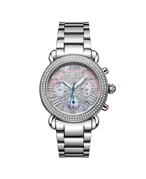 Jbw Women's Victory Diamond (3/4 ct.t.w.) Stainless Steel Watch