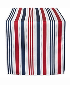 "Patriotic Stripe Outdoor Table Runner 14"" X 108"""