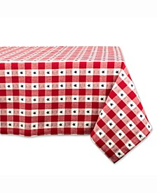 "Star Check Table cloth 60"" X 84"""