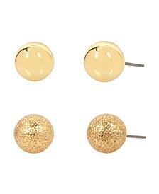Tone Mixed Ball Stud Earring Set
