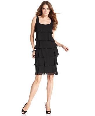 Patra Sleeveless Tiered Cocktail Dress Dresses Women