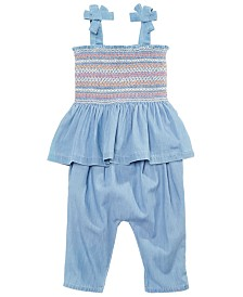 First Impressions Baby Girls Cotton Chambray Smocked Tank Top & Capris, Created for Macy's