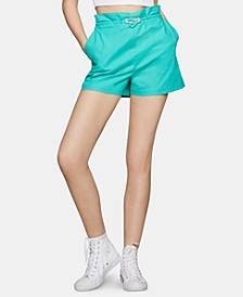 Pull-On Paperbag-Waist Shorts
