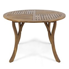 Hermosa Outdoor Round Dining Table, Quick Ship