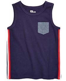 Epic Threads Little Boys Side Stripe Chambray Pocket Tank, Created for Macy's