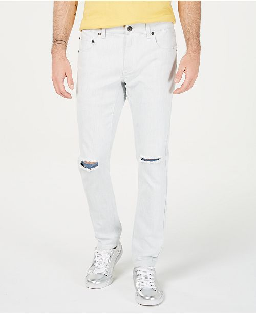 INC International Concepts I.N.C. Men's Skinny-Fit Ripped Jeans, Created for Macy's