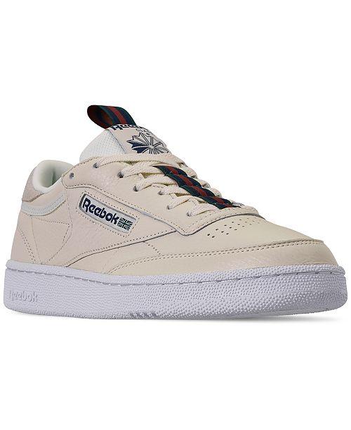 049d2a4cf70 Reebok Men s Club C 85 MU Casual Sneakers from Finish Line   Reviews ...