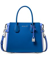 6a093b50ffb22a MICHAEL Michael Kors Mercer Belted Tricolor Pebble Leather Satchel