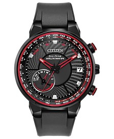 Citizen Eco-Drive Men's Satellite Wave GPS Freedom Black Polyurethane Strap Watch 44mm