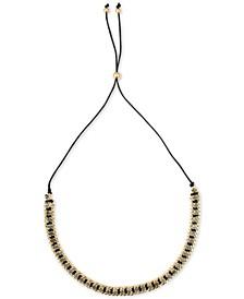 """Gold-Tone Crystal 29"""" Slider Necklace"""