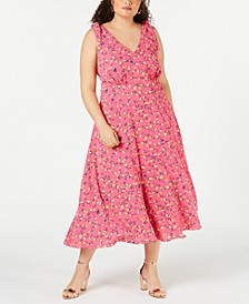 Trendy Plus Size Floral Midi Dress