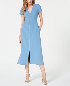 Jill Jill Stuart Front-Zip Midi Dress