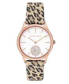 Anne Klein Glossy Dial with Swarovski Crystals Watch