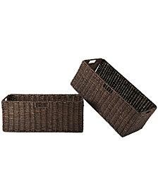 Winsome Granville Foldable 2-Pc Large Corn Husk Baskets