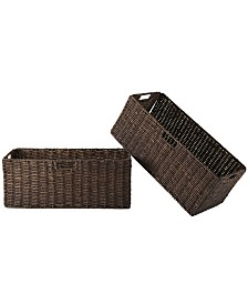 Winsome Granville Foldable 2-Pc Large Corn Husk Baskets