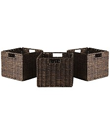 Winsome Granville Foldable 3-Pc Small Corn Husk Baskets