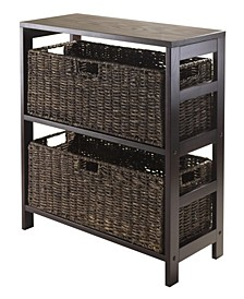 Granville 3Pc Storage Shelf with 2 Large Baskets