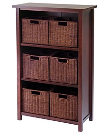 Milan 7-Pc Cabinet-Shelf with Baskets, 6 Small