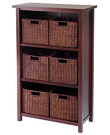 Winsome Milan 7-Pc Cabinet-Shelf with Baskets, 6 Small