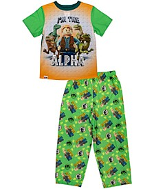 Lego Jurassic World Big Boys 2 Piece Pajama Set