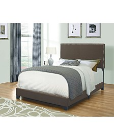 Rockville Upholstered Twin Bed with Nailhead Trim