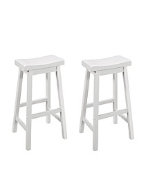 Brett Counter Stools with Scooped Seat (Set of 2)