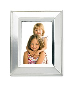 "Brushed Silver Plated Metal Picture Frame - 2"" x 3"""