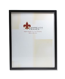 "Lawrence Frames Black Wood Picture Frame - Gallery Collection - 11"" x 14"""