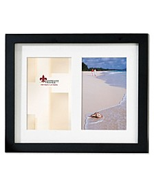 "Black Wood Double Matted Picture Frame - 4"" x 6"""